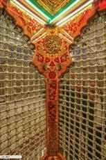 تصاویر/ نقش و نگار زیبای ضریح حرم حضرت ابا الفضل العباس(ع)