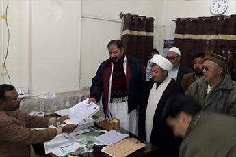 نمایند سابق شیعه در پارلمان ایالتی بلوچستان برای انتخابات میان دوره ای ثبت نام کرد