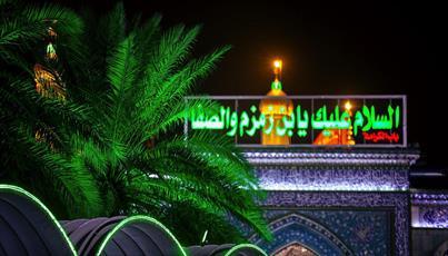 تصاویر/ گنبد حرم حضرت قمر بنی هاشم (ع) در شب مهتابی
