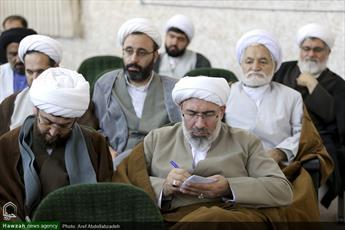 تبریک نمایندگان طلاب حوزه علمیه قم به بسیجیان ایران اسلامی