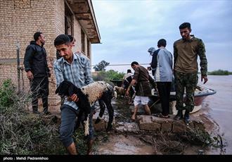 سیل در راه خوزستان/ آماده باش کلیه مدارس علمیه برای امدادرسانی به مردم