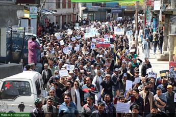 تصاویر/ راهپیمایی روز جهانی قدس در کرگل هند