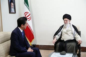 فیلم/ گزیدهای از بیانات رهبر انقلاب در دیدار نخستوزیر ژاپن