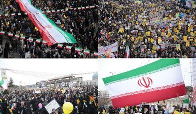 حضور مردم قم در راهپیمایی ۲۲ بهمن