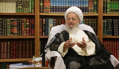 آیت الله   مکارم شیرازی در دیدار با رئیس دفتر تبلیغات اسلامی