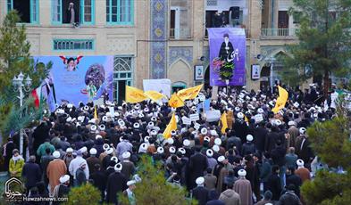 تصاویر/ تجمع بزرگ حوزویان در مدرسه فیضیه