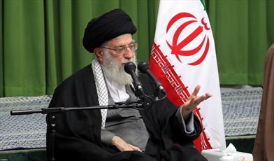 رهبر معظم انقلاب اسلامی در دیدار جمعی از شاعران مذهبی