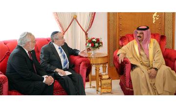 پادشاه بحرین در دیدار خاخام آمریکایی  Rabbi Marvin Hier مدیر موسس موزه تسامح شعبه لس آنجلس