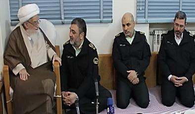 دیدار سردار اشتری  فرمانده نیروی انتظامی با حضرت آیت الله صافی گلپایگانی
