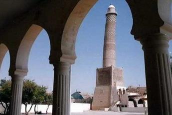 مسجد النوری در موصل و مناره کج آن