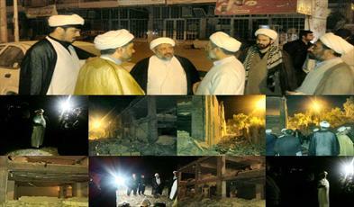 بازدید مدیر و معاونان حوزه ایلام از مناطق زلزله زده سرپل ذهاب