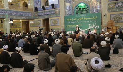 تصاویر/جلسه هفتگی درس اخلاق آیت الله العظمی مکارم در مدرسه علمیه امام کاظم(ع)