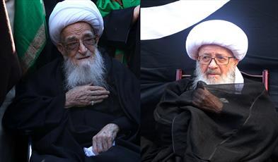 حضور دو مرجع تقلید در دسته عزاداری شهادت حضرت زهرا