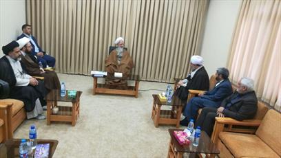 دیدار مدیر حوزه  خواهران با حضرات آیات جوادی آملی و علوی گرگانی