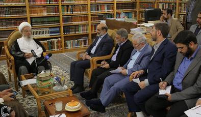 تصاویر/ دیدار رئیس سازمان صدا و سیما با مراجع و علما