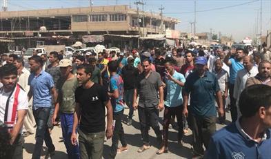 گزارشی از تظاهرات عراقی طی روز های گذشته