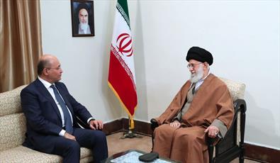 رهبر معظم انقلاب در دیدار رییسجمهور عراق