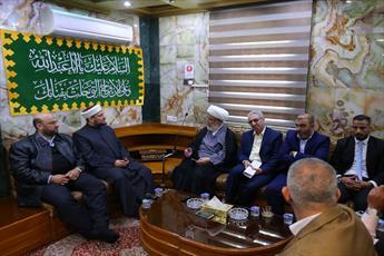 دیدار مجمع فقهی عراق با شیخ عبدالمهدی کربلائی