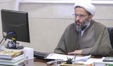 حجت الاسلام غلامعلی رائیجی رئیس اداره امور کتابخانههای معاونت پژوهش حوزه های علمیه
