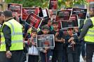 دسته عزاداری حسینی در لستر انگلستان به راه افتاد + تصاویر