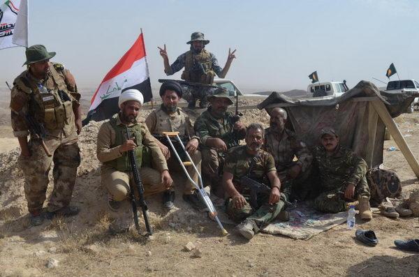 حضور فضلای حوزه علمیه عراق در عملیات آزادسازی منطقه الفتحة