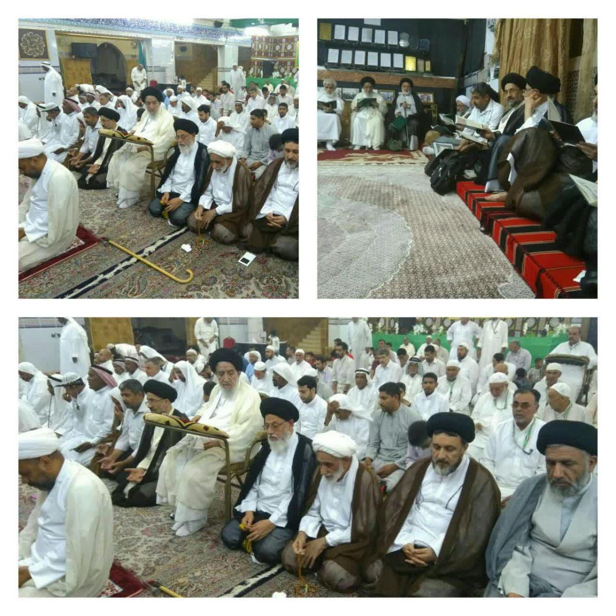 دیدار اعضای بعثه آیت الله العظمی  نوری همدانی با  رهبر شیعیان مدینه