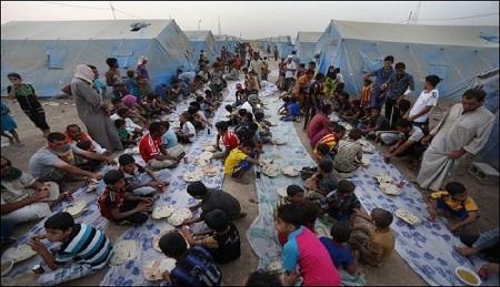 افطاری در عراق مناطق جنگی